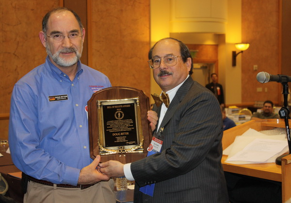 2012 Bill of Rights Award - Doug Ritter (right) Alan Gottlieb (left)